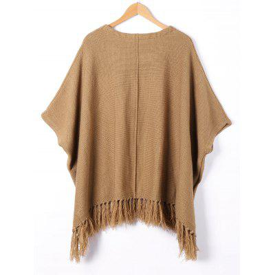 Tassel Trim Dolman Sleeve SweaterSweaters &amp; Cardigans<br>Tassel Trim Dolman Sleeve Sweater<br><br>Collar: Round Neck<br>Embellishment: Tassel<br>Material: Cotton, Spandex<br>Package Contents: 1 x Sweater<br>Pattern Type: Solid<br>Season: Spring, Fall<br>Sleeve Length: Half<br>Style: Casual<br>Technics: Computer Knitted<br>Type: Pullovers<br>Weight: 0.4500kg