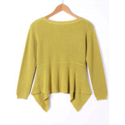 Asymmetric Long Sleeve SweaterSweaters &amp; Cardigans<br>Asymmetric Long Sleeve Sweater<br><br>Collar: Boat Neck<br>Material: Cotton, Spandex<br>Package Contents: 1 x Sweater<br>Pattern Type: Solid<br>Season: Spring, Fall<br>Sleeve Length: Full<br>Style: Casual<br>Technics: Computer Knitted<br>Type: Pullovers<br>Weight: 0.4500kg