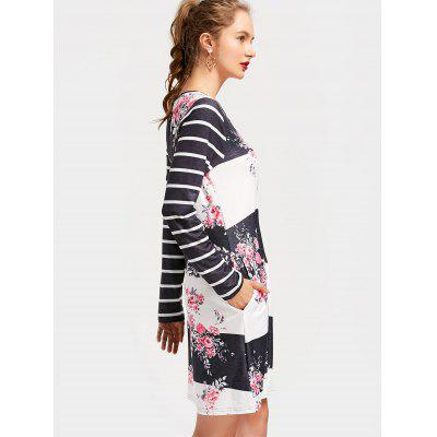 Striped Flower Print Shift DressWomens Dresses<br>Striped Flower Print Shift Dress<br><br>Dresses Length: Knee-Length<br>Material: Polyester<br>Neckline: Round Collar<br>Occasion: Causal, Going Out<br>Package Contents: 1 x Dress<br>Pattern Type: Floral, Striped<br>Season: Spring, Fall<br>Silhouette: Straight<br>Sleeve Length: Long Sleeves<br>Style: Casual<br>Weight: 0.2950kg<br>With Belt: No
