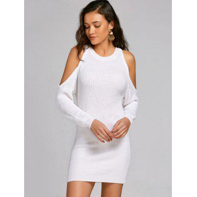 Bodycon Cold Shoulder Sweater Dress