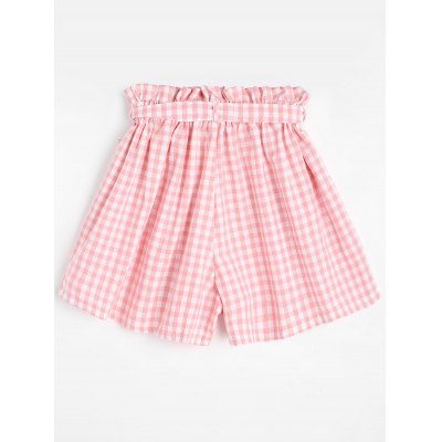 Smocked Checked Shorts with BeltShorts<br>Smocked Checked Shorts with Belt<br><br>Closure Type: Elastic Waist<br>Fit Type: Regular<br>Front Style: Flat<br>Material: Polyester<br>Package Contents: 1 x Shorts  1 x Belt<br>Pattern Type: Plaid<br>Style: Casual<br>Waist Type: Mid<br>Weight: 0.2200kg