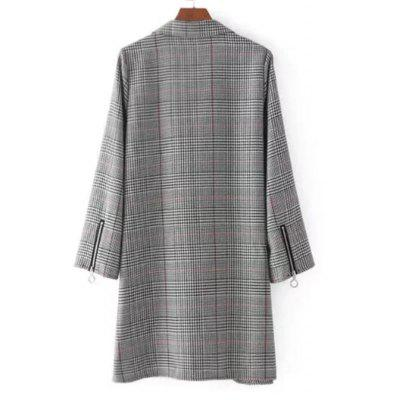 Checked Zippered Sleeve Casual DressLong Sleeve Dresses<br>Checked Zippered Sleeve Casual Dress<br><br>Dresses Length: Mini<br>Embellishment: Zippers<br>Material: Cotton, Polyester<br>Neckline: Shirt Collar<br>Occasion: Casual , Day, Going Out<br>Package Contents: 1 x Dress<br>Pattern Type: Plaid<br>Season: Fall, Spring<br>Silhouette: Straight<br>Sleeve Length: Long Sleeves<br>Style: Brief<br>Weight: 0.3900kg<br>With Belt: No