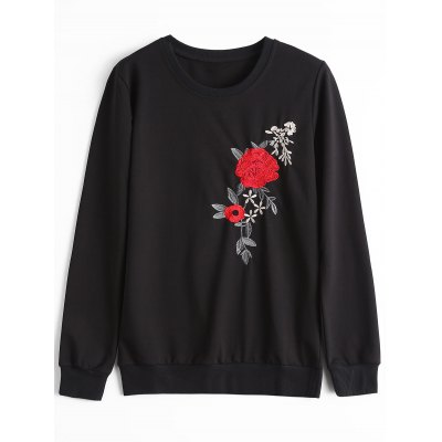 Flower Patched Sweatshirt