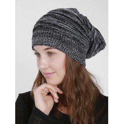 Knit Mixed Color Beanie Hat