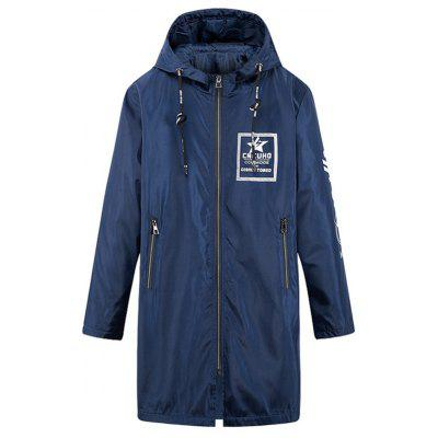 Vedado Hem Zip Up Hooded Coat