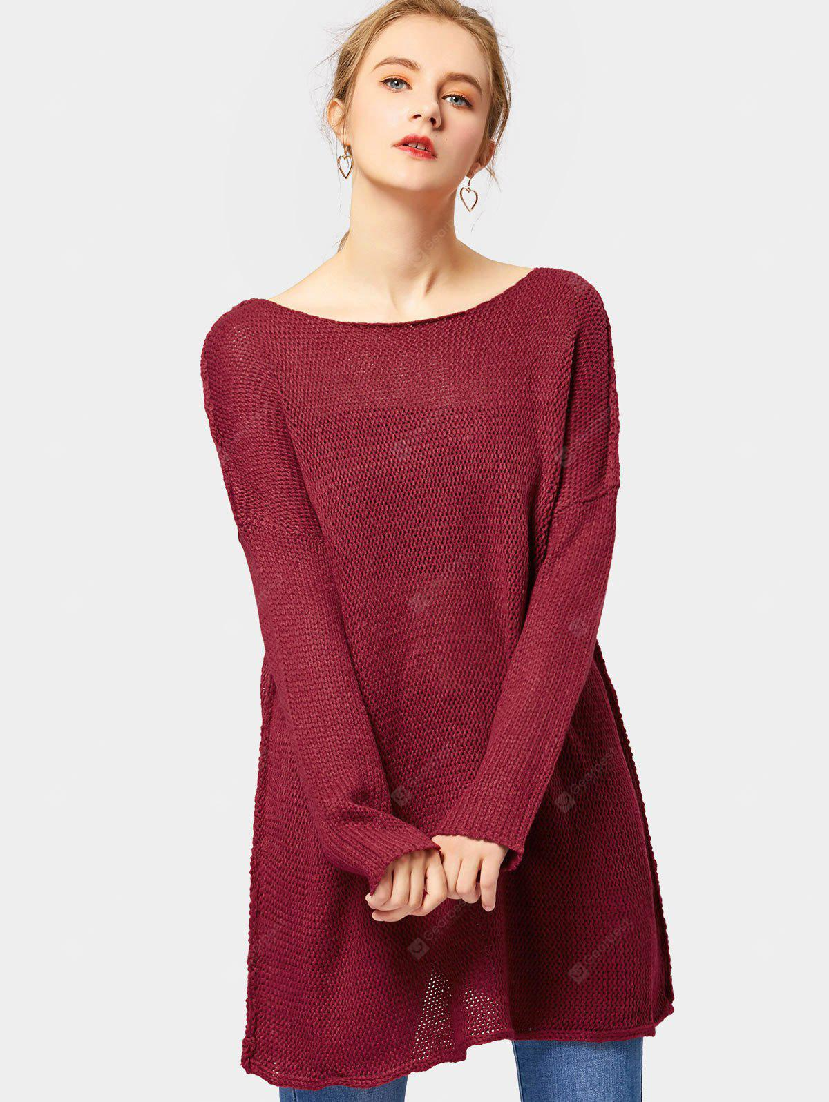 Loose Fit Tunic Pullover Sweater