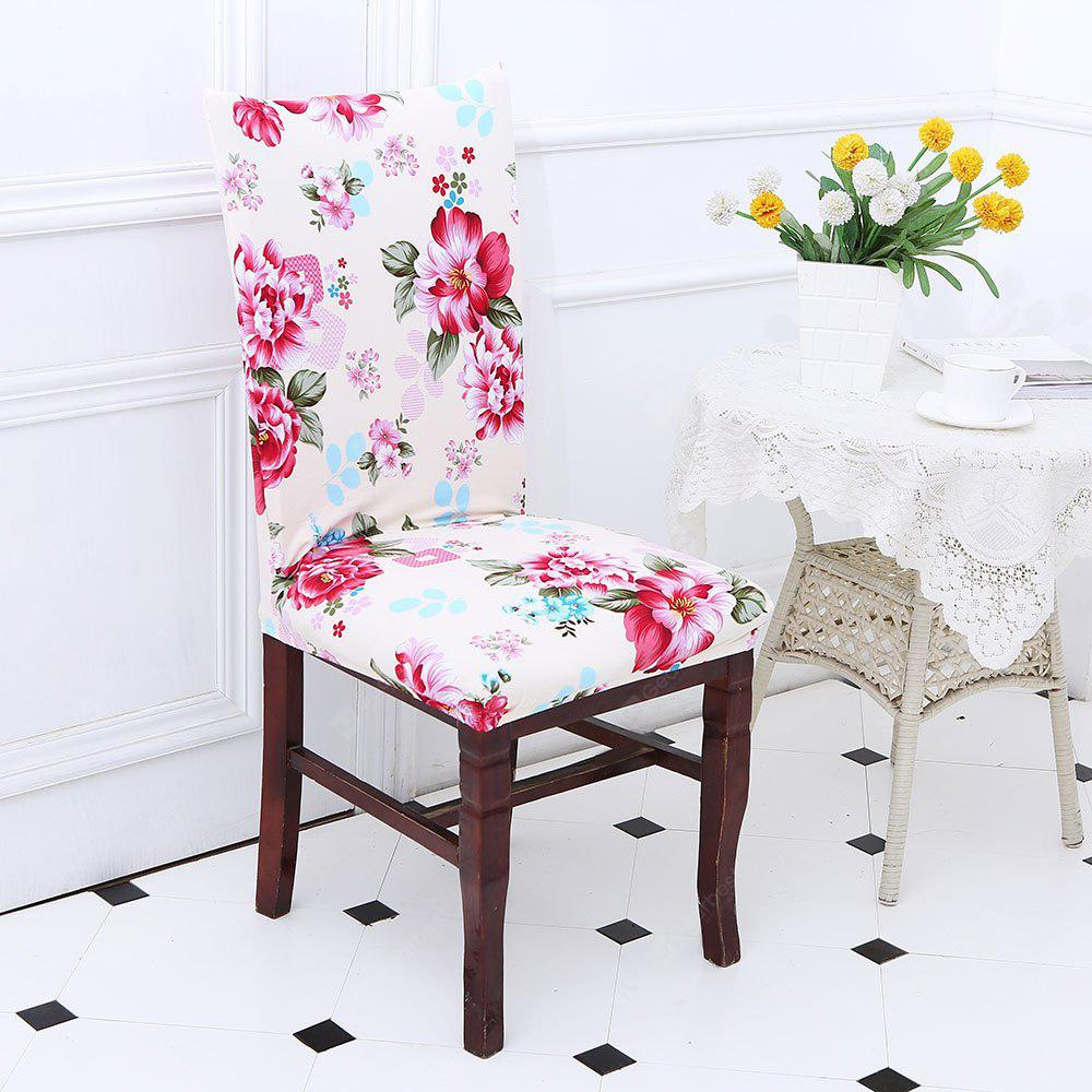 Peony Pattern Stretch Elastic Chair Cover