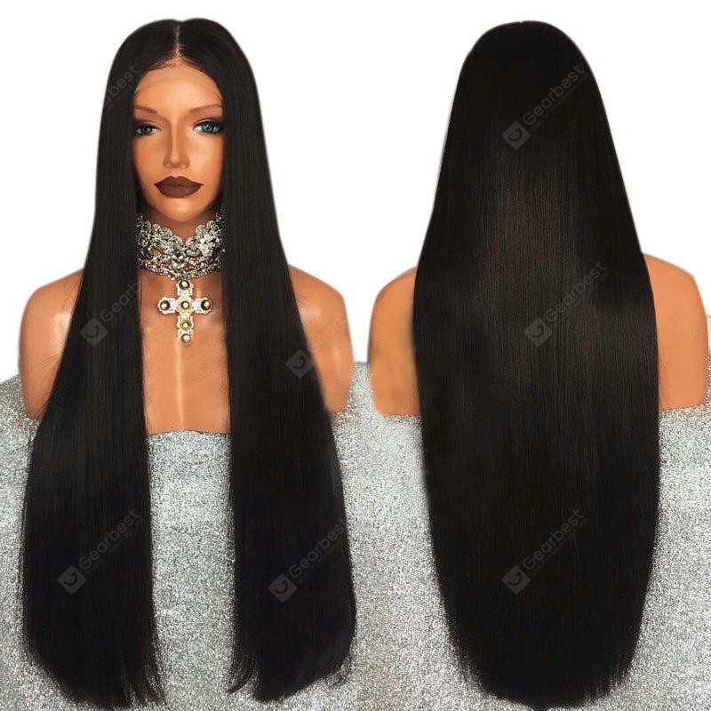 Ultra Long Middle Part Straight Lace Front Synthetic Wig