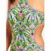 One Piece Tropical Print Swimsuit - COLORMIX