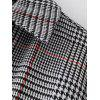 Checked Zippered Sleeve Casual Dress - CHECKED