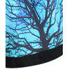 Plus Size Galaxy Tree Printed Hoodie - AZUL