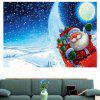 Moonlight Santa Claus Sticker mural polyvalent - BLEU
