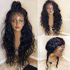 Long Free Part Shaggy Natural Wavy Lace Front Synthetic Wig - BLACK