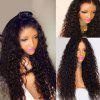 Long Free Part Fluffy Deep Wave Lace Front Synthetic Wig - NATURAL BLACK