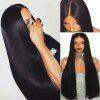 Ultra Long Middle Part Straight Lace Front Synthetic Wig - BLACK