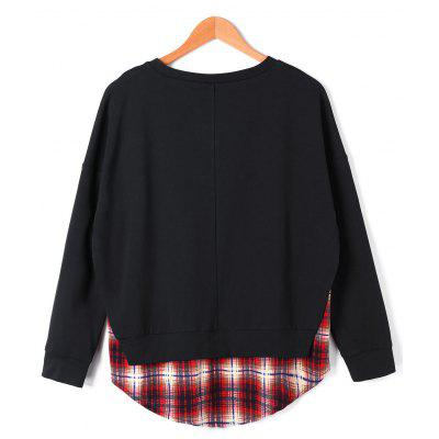 Plaid Panel Curved Hem SweatshirtSweatshirts &amp; Hoodies<br>Plaid Panel Curved Hem Sweatshirt<br><br>Material: Polyester, Rayon<br>Package Contents: 1 x Sweatshirt<br>Pattern Style: Plaid<br>Season: Fall, Spring<br>Shirt Length: Long<br>Sleeve Length: Full<br>Style: Casual<br>Weight: 0.3400kg