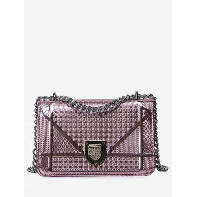 Quilted Geometric Chain Crossbody Bag