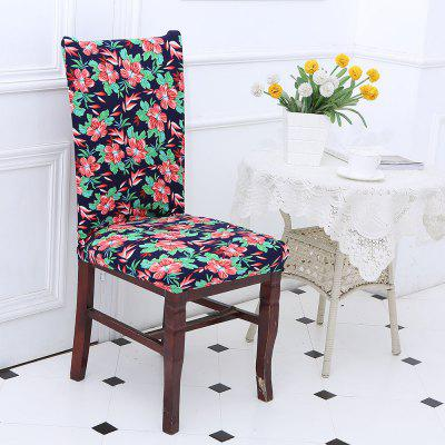 Flowers Printed Stretch Elastic Removable Chair Cover
