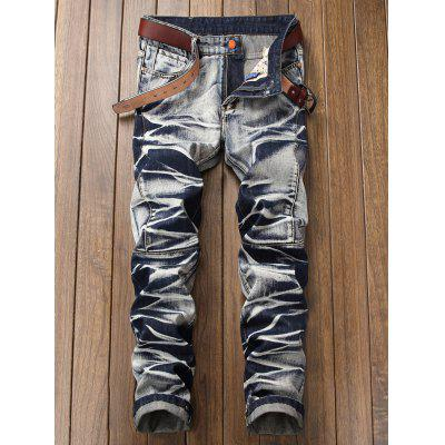 Tie Dye Zip Fly Straight Leg JeansMens Pants<br>Tie Dye Zip Fly Straight Leg Jeans<br><br>Closure Type: Zipper Fly<br>Fit Type: Regular<br>Material: Cotton, Polyester<br>Package Contents: 1 x Jeans<br>Pant Length: Long Pants<br>Pant Style: Straight<br>Waist Type: Mid<br>Wash: Medium<br>Weight: 0.7300kg<br>With Belt: No