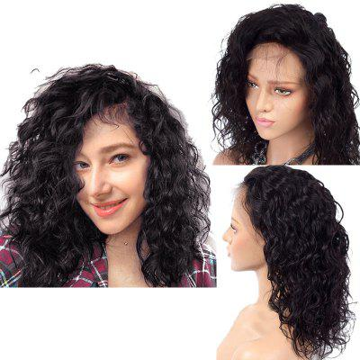 Medium Free Part Shaggy Wasser Wave Lace Front Synthetische Perücke