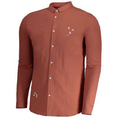 Embroidered Button Up Mens ShirtMens Shirts<br>Embroidered Button Up Mens Shirt<br><br>Collar: Turn-down Collar<br>Material: Cotton, Polyester<br>Package Contents: 1 x Shirt<br>Shirts Type: Casual Shirts<br>Sleeve Length: Full<br>Weight: 0.3200kg