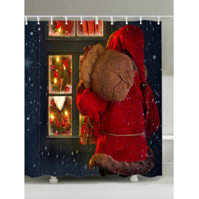 Buy Christmas Santa Window Print Fabric Waterproof Shower Curtain, RED, Home & Garden, Bathroom, Shower Curtain for $15.39 in GearBest store