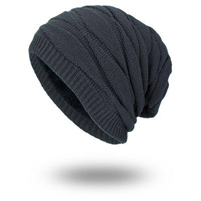 Soft Stacking Stripe Baggy Knitted Beanie