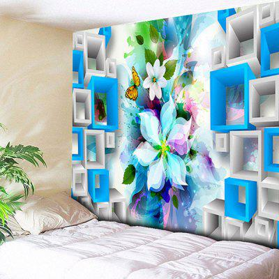 Buy COLORMIX Wall Art Flower Butterfly Print Tapestry for $21.40 in GearBest store