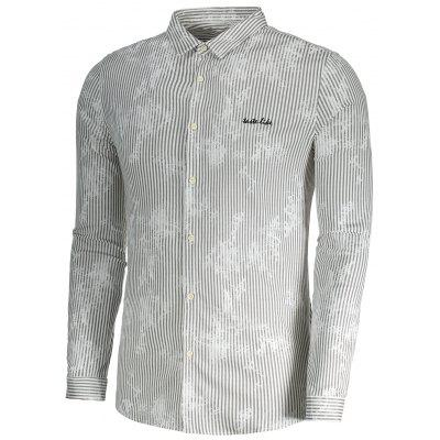 Pinstripe Button Up Mens ShirtMens Shirts<br>Pinstripe Button Up Mens Shirt<br><br>Collar: Turn-down Collar<br>Material: Cotton, Polyester<br>Package Contents: 1 x Shirt<br>Shirts Type: Casual Shirts<br>Sleeve Length: Full<br>Weight: 0.3800kg