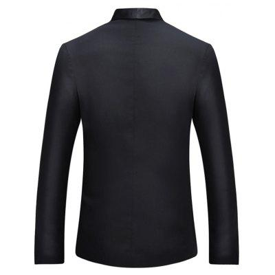 One Button Shawl Collar Tuxedo BlazerMens Blazers<br>One Button Shawl Collar Tuxedo Blazer<br><br>Closure Type: Single Breasted<br>Material: Cotton, Polyester<br>Package Contents: 1 x Blazer<br>Shirt Length: Regular<br>Sleeve Length: Long Sleeves<br>Weight: 0.5200kg