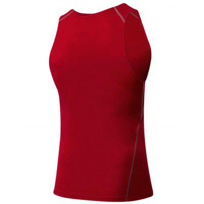 Crew Neck Suture Stretchy Fitness VestCrew Neck Suture Stretchy Fitness Vest<br><br>Material: Polyester, Spandex<br>Package Contents: 1 x Vest<br>Pattern Type: Solid<br>Type: Vest<br>Weight: 0.1800kg