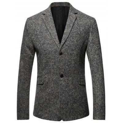 Single Breasted Elbow Patch Heathered Blazer