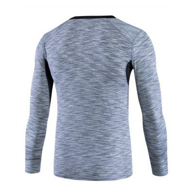 Openwork Panel Fitted Quick Dry Long Sleeve T-shirtOpenwork Panel Fitted Quick Dry Long Sleeve T-shirt<br><br>Elasticity: Elastic<br>Material: Polyester, Spandex<br>Package Contents: 1 x T-shirt<br>Pattern Type: Solid<br>Type: T-Shirt<br>Weight: 0.2900kg