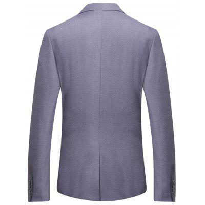 One Button Flap Pocket Business BlazerMens Blazers<br>One Button Flap Pocket Business Blazer<br><br>Closure Type: Single Breasted<br>Material: Cotton, Polyester<br>Package Contents: 1 x Blazer<br>Shirt Length: Regular<br>Sleeve Length: Long Sleeves<br>Weight: 0.7300kg