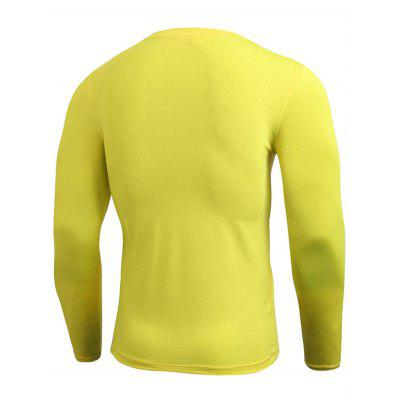Crew Neck Quick Dry Fitted Gym Long Sleeve T-shirtSport Clothing<br>Crew Neck Quick Dry Fitted Gym Long Sleeve T-shirt<br><br>Elasticity: Elastic<br>Material: Polyester, Spandex<br>Package Contents: 1 x T-shirt<br>Pattern Type: Solid<br>Type: T-Shirt<br>Weight: 0.2400kg