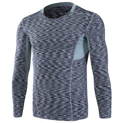 Openwork Panel Fitted Quick Dry Long Sleeve T-shirt