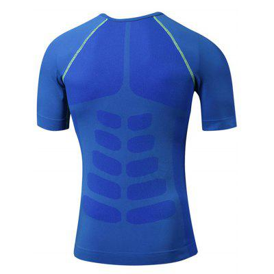 Crew Neck Quick Dry Fitted Stretchy Fitness T-shirtCrew Neck Quick Dry Fitted Stretchy Fitness T-shirt<br><br>Elasticity: Elastic<br>Material: Polyester, Spandex<br>Package Contents: 1 x T-shirt<br>Pattern Type: Solid<br>Type: T-Shirt<br>Weight: 0.2100kg