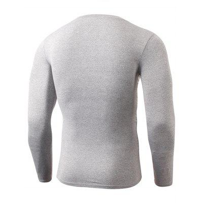 Crew Neck Quick Dry Fitted Gym Long Sleeve T-shirtCrew Neck Quick Dry Fitted Gym Long Sleeve T-shirt<br><br>Elasticity: Elastic<br>Material: Polyester, Spandex<br>Package Contents: 1 x T-shirt<br>Pattern Type: Solid<br>Type: T-Shirt<br>Weight: 0.2400kg