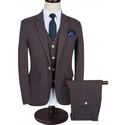 Notch Lapel Stripe Business Suit