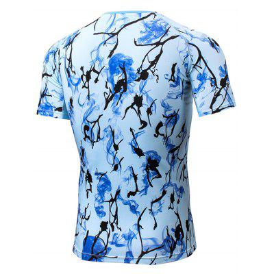 Tie Dye Print Quick Dry Fitted Openwork panel T-shirtSport Clothing<br>Tie Dye Print Quick Dry Fitted Openwork panel T-shirt<br><br>Elasticity: Elastic<br>Material: Polyester, Spandex<br>Package Contents: 1 x T-shirt<br>Pattern Type: Print<br>Type: T-Shirt<br>Weight: 0.2300kg