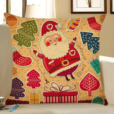 Cartoon Father Christmas Pattern Pillow Case