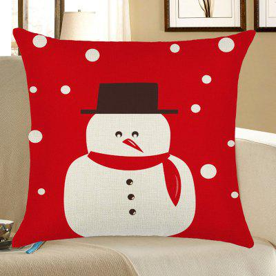 Christmas Snowman Printed Pillow Case