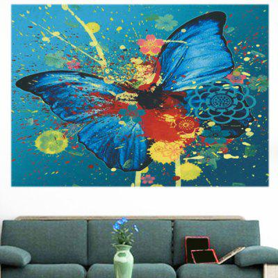Decorative Multifunction Wall Art Butterfly PaintingPrints<br>Decorative Multifunction Wall Art Butterfly Painting<br><br>Features: Decorative, Removable, Waterproof<br>Form: One Panel<br>Frame: No<br>Hang In/Stick On: Bathroom,Bedrooms,Cafes,Hotels,Kids Room,Kitchen,Living Rooms,Offices<br>Material: Fabric Cloth<br>Package Contents: 1 x Wall Art Painting<br>Product Type: Art Print<br>Style: Fashion<br>Subjects: Animal