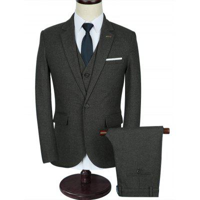 Slim Fit Casual Classic 3 Piece Business Suit