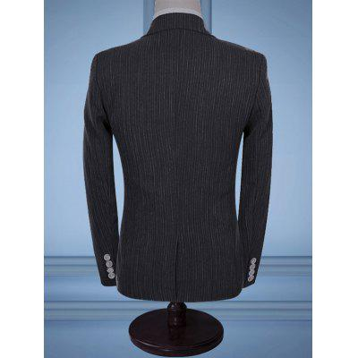 Lapel One Button Casual Business SuitMens Blazers<br>Lapel One Button Casual Business Suit<br><br>Closure Type: Single Breasted<br>Front Style: Flat<br>Material: Cotton, Polyester<br>Package Contents: 1 x Blazer  1 x Pants  1 x Waistcoat<br>Pant Closure Type: Zipper Fly<br>Shirt Length: Regular<br>Type: Suits<br>Weight: 1.6000kg