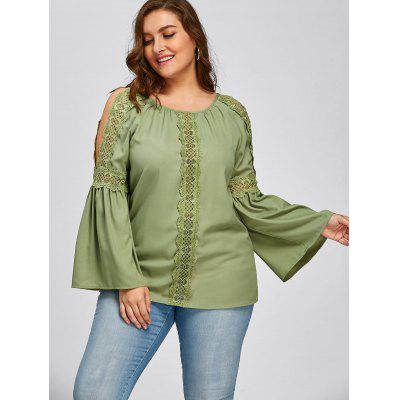 Plus Size Lace Trim Slit Sleeve BlousePlus Size Tops<br>Plus Size Lace Trim Slit Sleeve Blouse<br><br>Collar: Round Neck<br>Embellishment: Lace<br>Material: Polyester<br>Package Contents: 1 x Blouse<br>Pattern Type: Solid<br>Season: Spring, Fall<br>Shirt Length: Regular<br>Sleeve Length: Full<br>Style: Fashion<br>Weight: 0.2700kg
