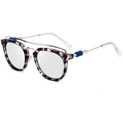 Vintage Metal Full Frame Crossbar Sunglasses