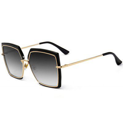 Vintage Metal Full Frame Oversized Square Sunglasses