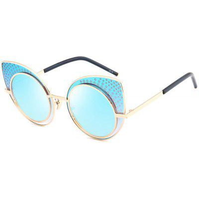 Vintage UV Protection Rhinestone Embellished Cat Eye Sunglasses
