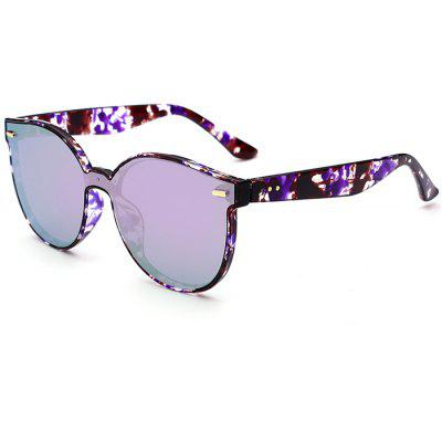 Anti UV Full Frame Mirror Butterfly Sunglasses
